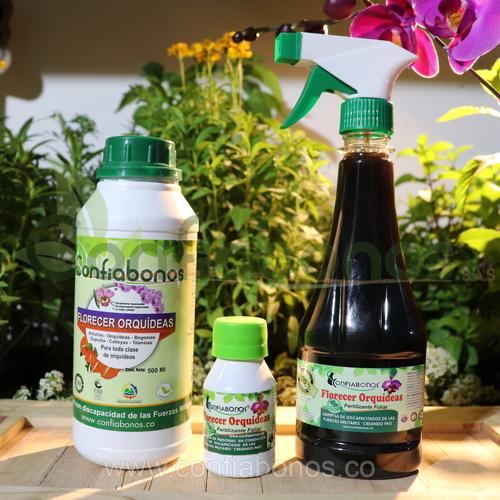 Fertilizantes en bogota Colombia - abonos organicos bogota Colombia - Florecer liquido para orquidea - Viveros en bogota Colombia - jardineria – confiabonos