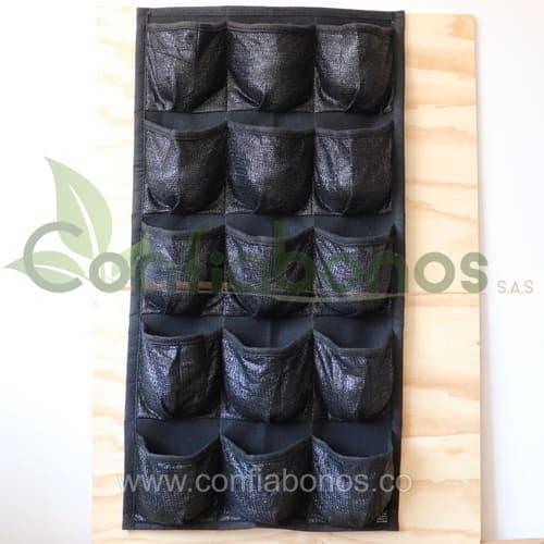 Materas en bogota Colombia - macetas en bogota Colombia - macetas decorativas - matera vertical con bolsillos - Viveros en bogota Colombia - jardineria - confiabonos